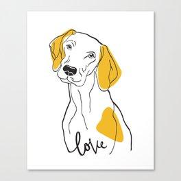 Dog Modern Line Art Canvas Print