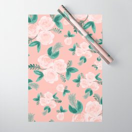 Watercolor Roses in Soft Pink Wrapping Paper