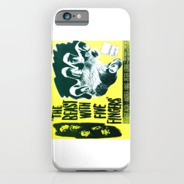 The Beast with five fingers, vintage horror movie poster iPhone Case