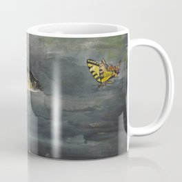 Vintage Winslow Homer Fish & Butterfly Painting (1900) Coffee Mug