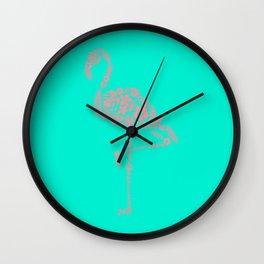 Flamingo Plant Wall Clock