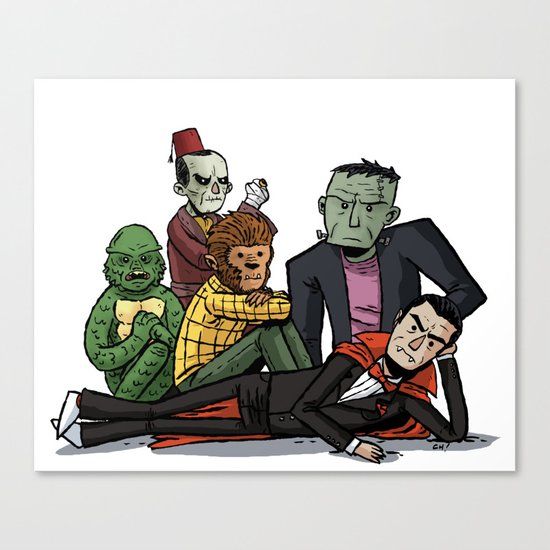 The Universal Monster Club Canvas Print