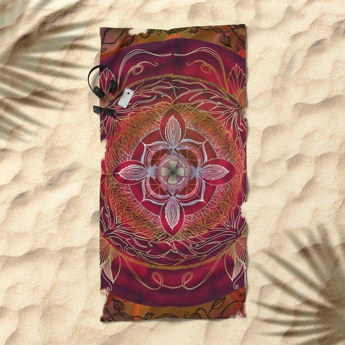 Root Chakra Beach Towel