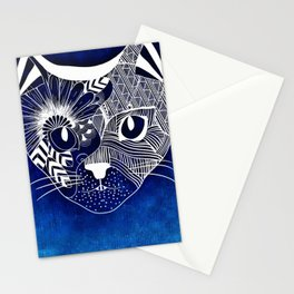 Tribal Cat Stationery Cards
