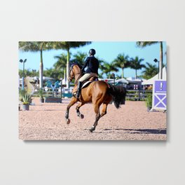 jumping in the palms Metal Print