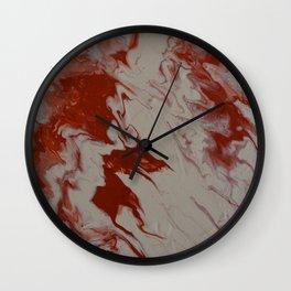 Orange Creamsicle Pour Wall Clock