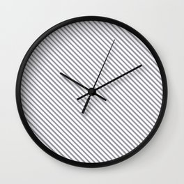 Lilac Gray Stripe Wall Clock