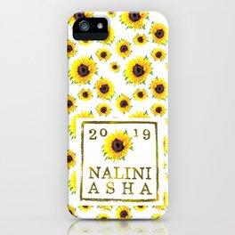Nalini Asha Logo sunflower stamp iPhone Case