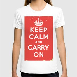 Classic Vintage 'keep calm and carry on' print T-shirt