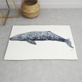Grey whale Rug