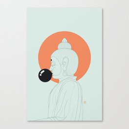 Buddha : Concentrate on the Void! Canvas Print