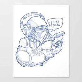 i Like To Draw Canvas Print