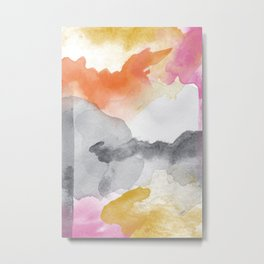 Tequila Sunrise Abstract Metal Print