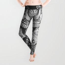 Astronauti Boar White black Leggings