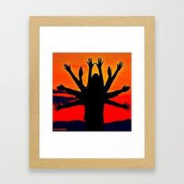 Human tree Framed Art Print