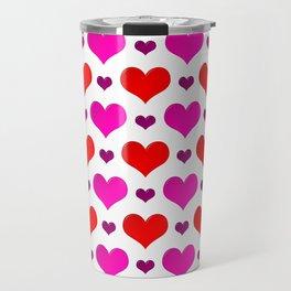 Love Hearts Pattern Travel Mug