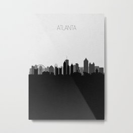 City Skylines: Atlanta (Alternative) Metal Print