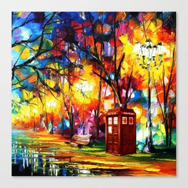 Tardis Dr Who Canvas Print