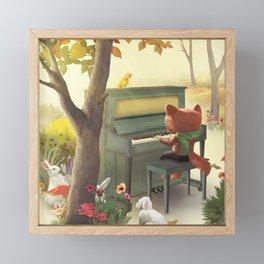Forest Piano Framed Mini Art Print