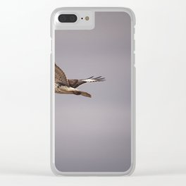 Surfing the Skies Clear iPhone Case