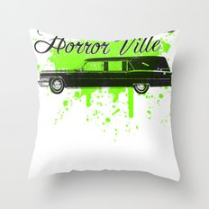 Galactic Hearse Throw Pillow