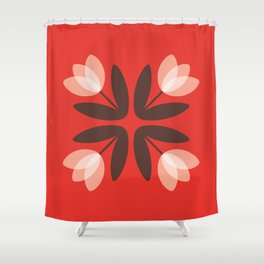 Tulips from Amsterdam in Red Shower Curtain