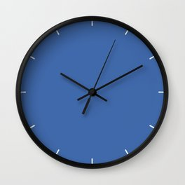 Nebulas Blue | Pantone Fashion Color | Fall : Winter 2018 | New York and London | Solid Color Wall Clock