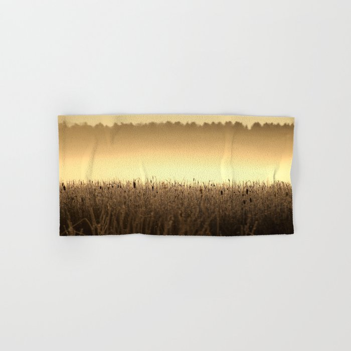 Bed Of Reeds In Golden Hour Hand & Bath Towel