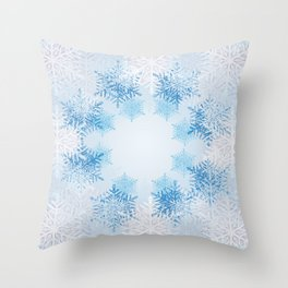 Frost on the Window Throw Pillow