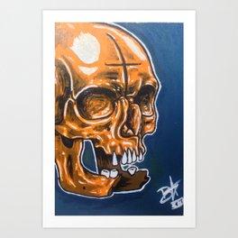 Skull Oil Painting  Art Print