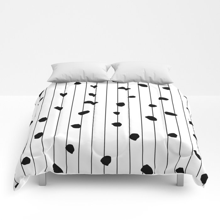 Dots and lines Comforters