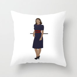"""What's your name?"" ""Agent."" Throw Pillow"