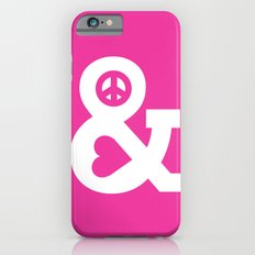 Peace and Love (pink edition) iPhone 6s Slim Case