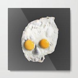 Egg Skull Metal Print