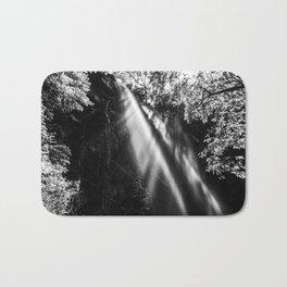 Beautiful waterfall in black and white Bath Mat