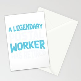 Postal Worker Post Office Mail Mailman Gift Stationery Cards