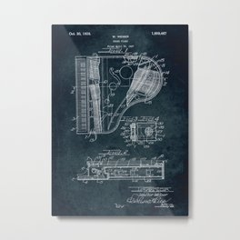 Grand Piano patent Metal Print
