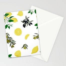 Lemons and olives Stationery Cards