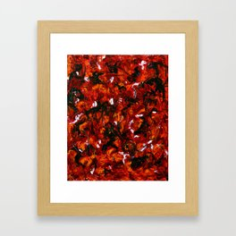 Abstract Red and Orange Framed Art Print