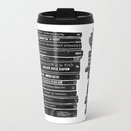 Mono book stack 2 Travel Mug