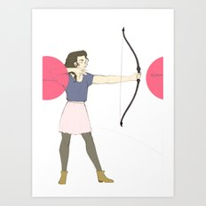Shoot Straight Art Print