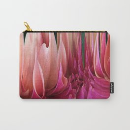 439 - Abstract Dahlia Design Carry-All Pouch
