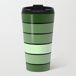 Green Stripes Travel Mug