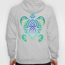 Tribal Turtle Ombre Background Hoody