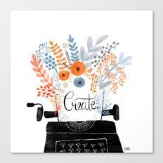 Create | Typewriter Canvas Print