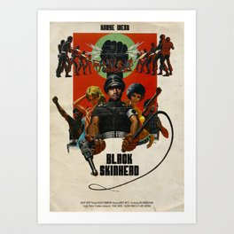 BLACK SKINHEAD Art Print