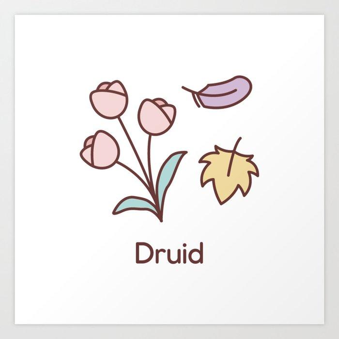 Cute Dungeons and Dragons Druid class Art Print