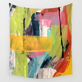 Hopeful[2] - a bright mixed media abstract piece Wall Tapestry