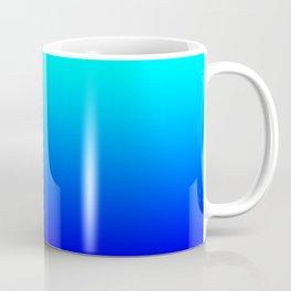 Aqua Blue Bright Ombre Coffee Mug