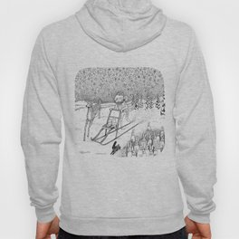 Kick-sledding Fox Hoody